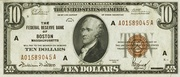 10 Dollars (Federal Reserve Bank Note; Series 1929) – obverse