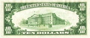 10 Dollars (Federal Reserve Bank Note; Series 1929) – reverse