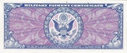 10 Dollars (Military Payment Certificate) – reverse