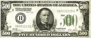 500 Dollars (Federal Reserve Note) – obverse