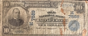 10 Dollars (National Currency - Battle Creek, Michigan) – obverse
