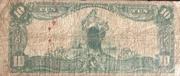 10 Dollars (National Currency - Battle Creek, Michigan) – reverse