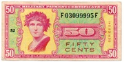 50 Cents (Military Payment Certificate) – obverse