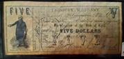 5 Dollars (Treasury Warrant) – obverse