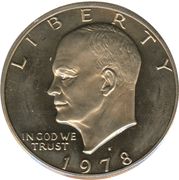 "1 Dollar ""Eisenhower Dollar"" -  obverse"