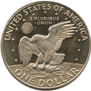 "1 Dollar ""Eisenhower Dollar"" -  reverse"