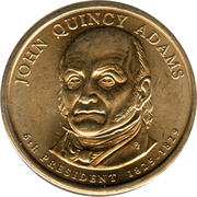 1 Dollar (John Quincy Adams) -  obverse