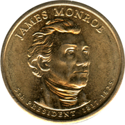 1 Dollar (James Monroe) -  obverse