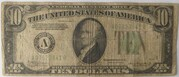 10 Dollars (BILL GREEN SEAL SERIES OF 1934 A) – obverse