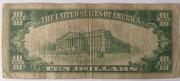 10 Dollars (BILL GREEN SEAL SERIES OF 1934 A) – reverse