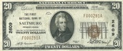 20 Dollars (National Bank Note; Series 1929) – obverse