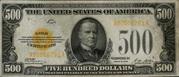 500 Dollars Gold Certificate – obverse