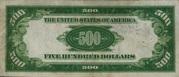 500 Dollars Gold Certificate – reverse