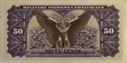 50 Cents (Military Payment Certificate) – reverse