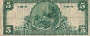 5 Dollars (National Bank) – reverse