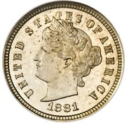"""1 Cent """"Liberty Head One Cent"""" (Pattern) – obverse"""