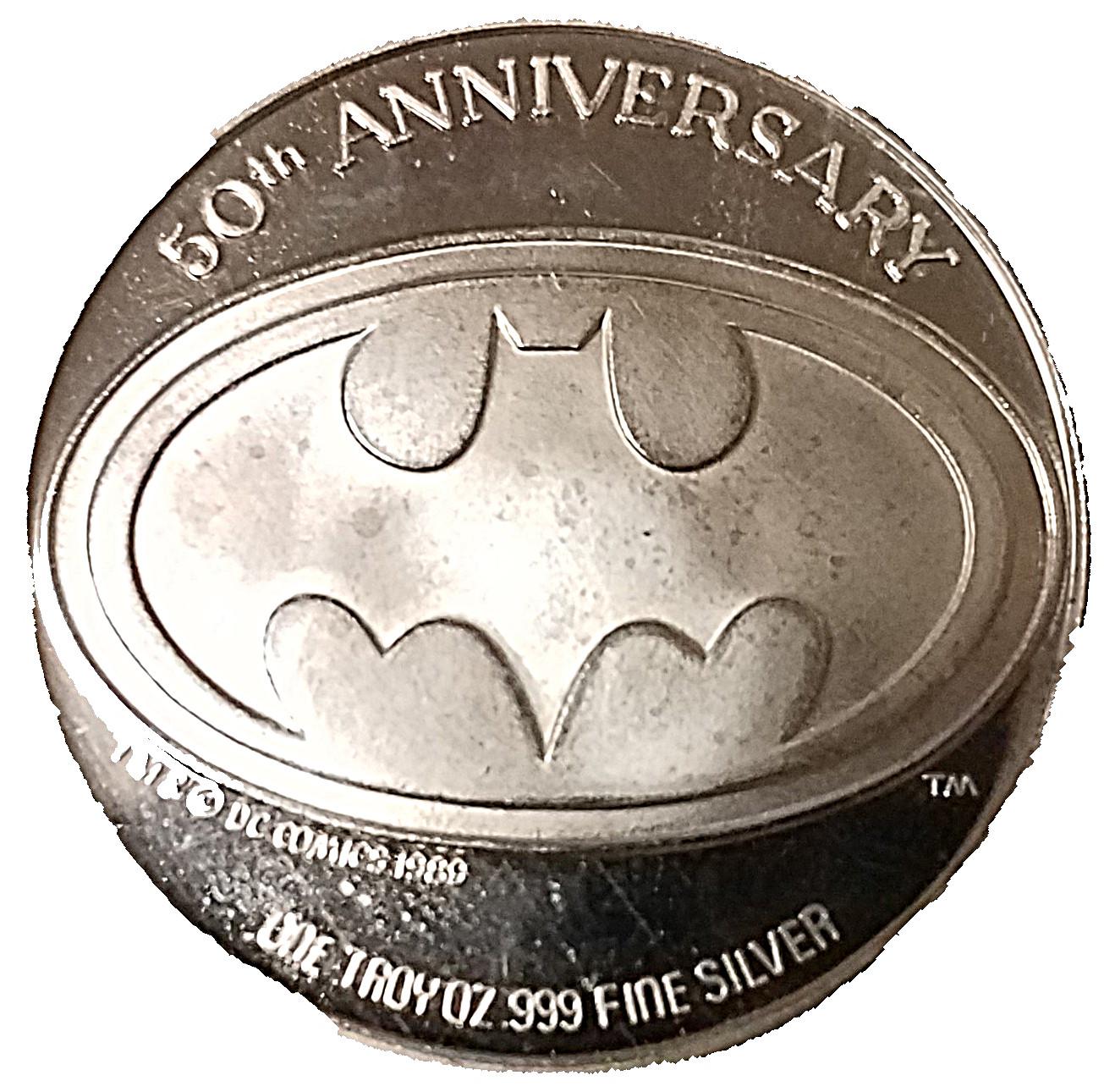 9 oz Silver Batman 9 Years   Batmobile   United States – Numista