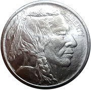 1 oz Silver (Golden State Mint - Buffalo Nickel) -  obverse