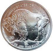 1 oz Silver (Golden State Mint - Buffalo Nickel) -  reverse