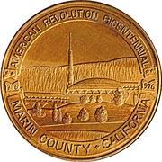 Medal - American Revolution Bicentennial (Marin County, California) -  obverse