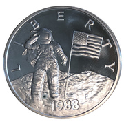 Medal - Young Astronauts (Moon Landing) -  obverse