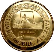 """Token - Battleship Memorial Park, Mobile, Alabama (USS Alabama """"The Mighty A"""") -  obverse"""