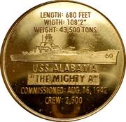 "Token - Battleship Memorial Park, Mobile, Alabama (USS Alabama ""The Mighty A"") -  reverse"