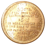 50 Cents - The First Savings and Banking Company Dayton (Dayton, Ohio) -  reverse