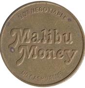 Token - Malibu Money (Malibu Grand Prix; Woodland Hills, California) – reverse