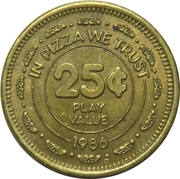 25 Cents - Chuck E. Cheese (In Pizza We Trust) – reverse