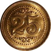 25 Cents Carwash Token – reverse