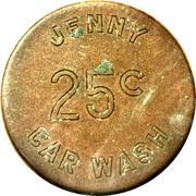 25 Cents - Jenny Car Wash – obverse