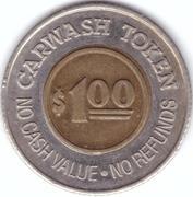 1 Dollar Car Wash Token - Oasis (Littleton, Colorado) – reverse