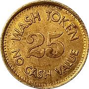 25 Cents Wash Token (Wizard) – reverse