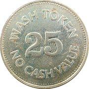 25 Cents Wash Token - Self Service Car Wash – reverse