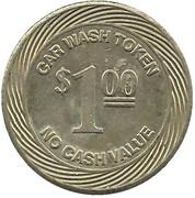 1 Dollar Car Wash Token - Auto Bath Systems (Champaign, Illinois) – reverse