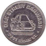 25 Cents Wash Token - Oak Street Carwash (Scottsdale) – obverse
