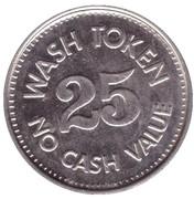 25 Cents Wash Token - Oak Street Carwash (Scottsdale) – reverse