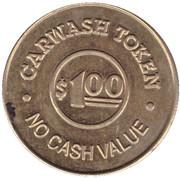 1 Dollar Carwash Token - Hurricane Bay (Rome) -  reverse