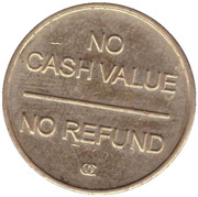 Car Wash Token - Glo n Go (Brentwood, New York) -  reverse
