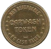 25 Cents Carwash Token – obverse