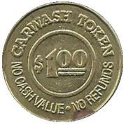 1 Dollar Carwash Token - Flollow Charlie (Alameda, California) – reverse