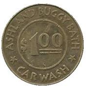 1 Dollar Car Wash Token - Ashland Buggy Bath (Ashland, Oregon) – obverse