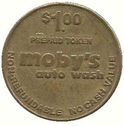 1 Dollar - Moby's Auto Wash (Bakersfield, California) – obverse