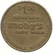 1 Dollar - Moby's Auto Wash (Bakersfield, California) – reverse
