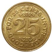 Token - Carwash Token (Brass, 25mm, HM) – reverse