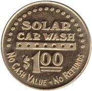 1 Dollar Car Wash Token - Solar (El Cerrito, California) – reverse