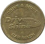 1 Dollar Car Wash Token - Drive & Shine (Elkhart, Indiana) – obverse