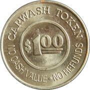 1 Dollar Carwash Token - Gold Coin Car Wash (Oakland, California) – reverse