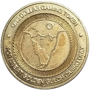 1 Dollar Gaming Token - Golden Gulch Casino (Blackhawk, Colorado) -  obverse